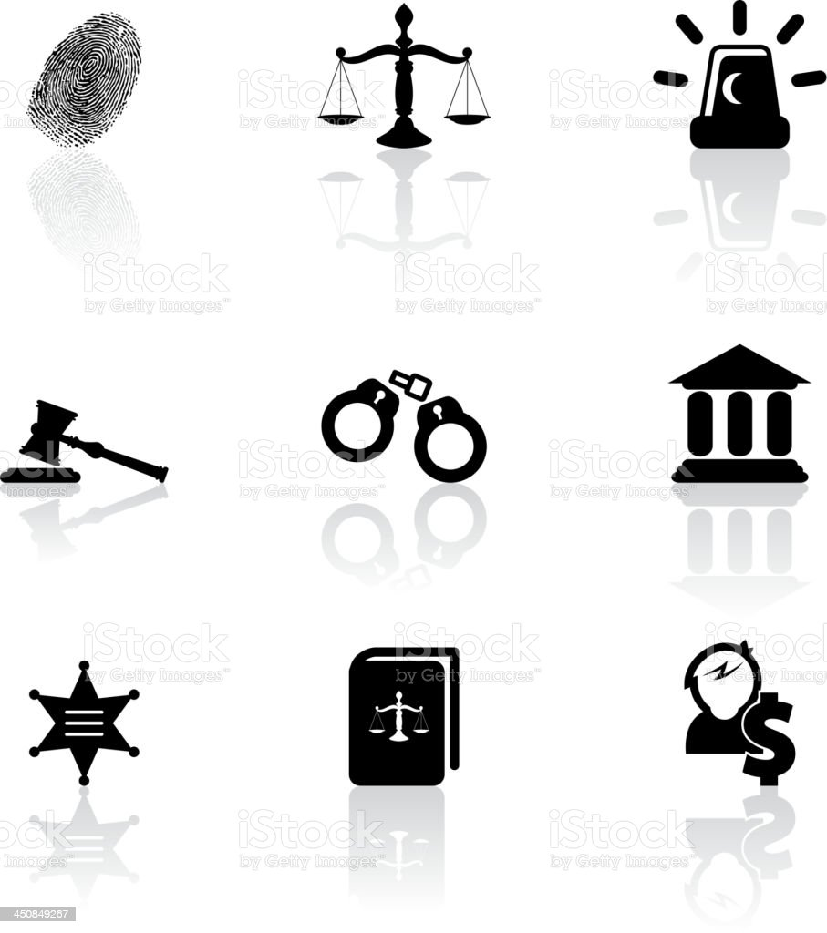 Justice icons royalty-free justice icons stock vector art & more images of arrest