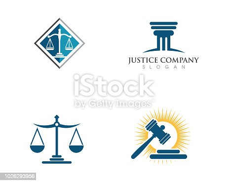 justice law graphic Template vector illsutration design