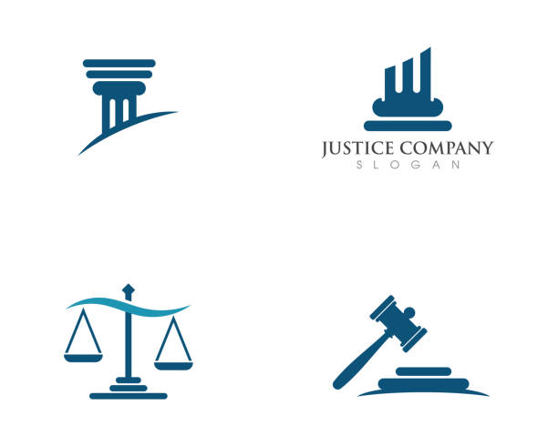 justice law graphic Template justice law graphic Template vector illsutration design avocado silhouettes stock illustrations