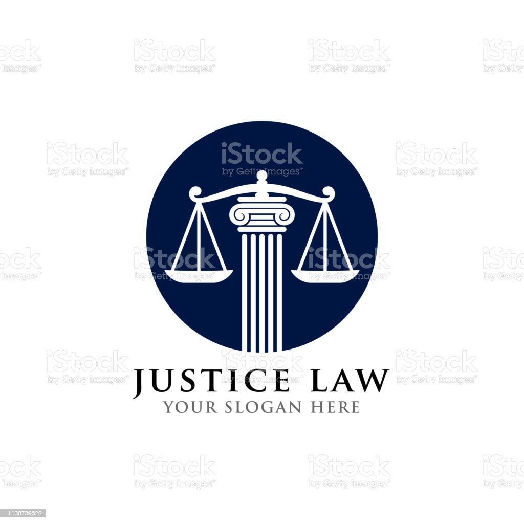 justice law icon symbol design template. attorney icon symbol vector...