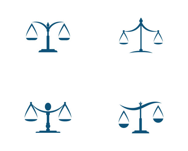 justice law  Template justice law  Template vector illsutration design avocado silhouettes stock illustrations