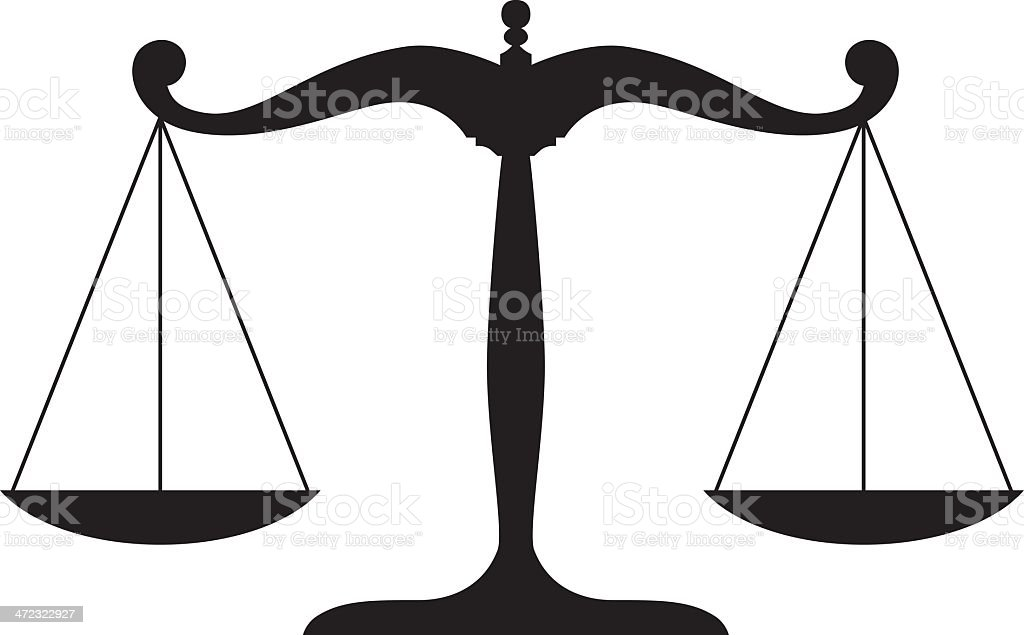 Justice Legal Or Law Scale Symbol Stock Vector Art More Images Of