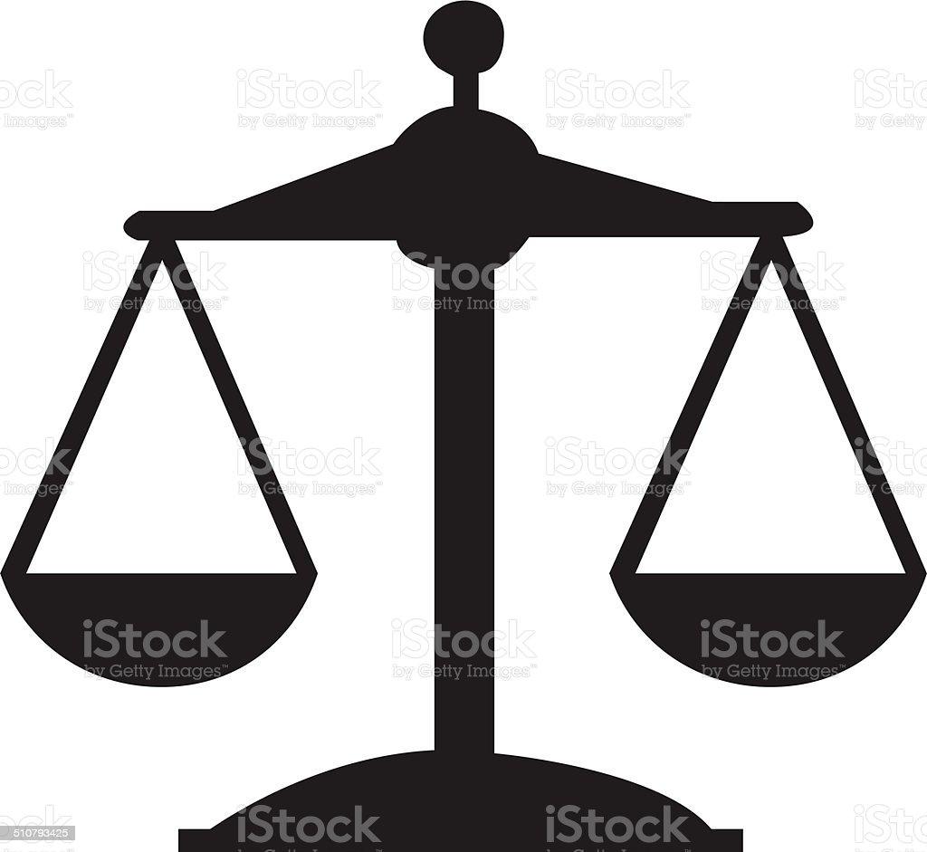 Ícone de Justiça ou - ilustração de arte em vetor