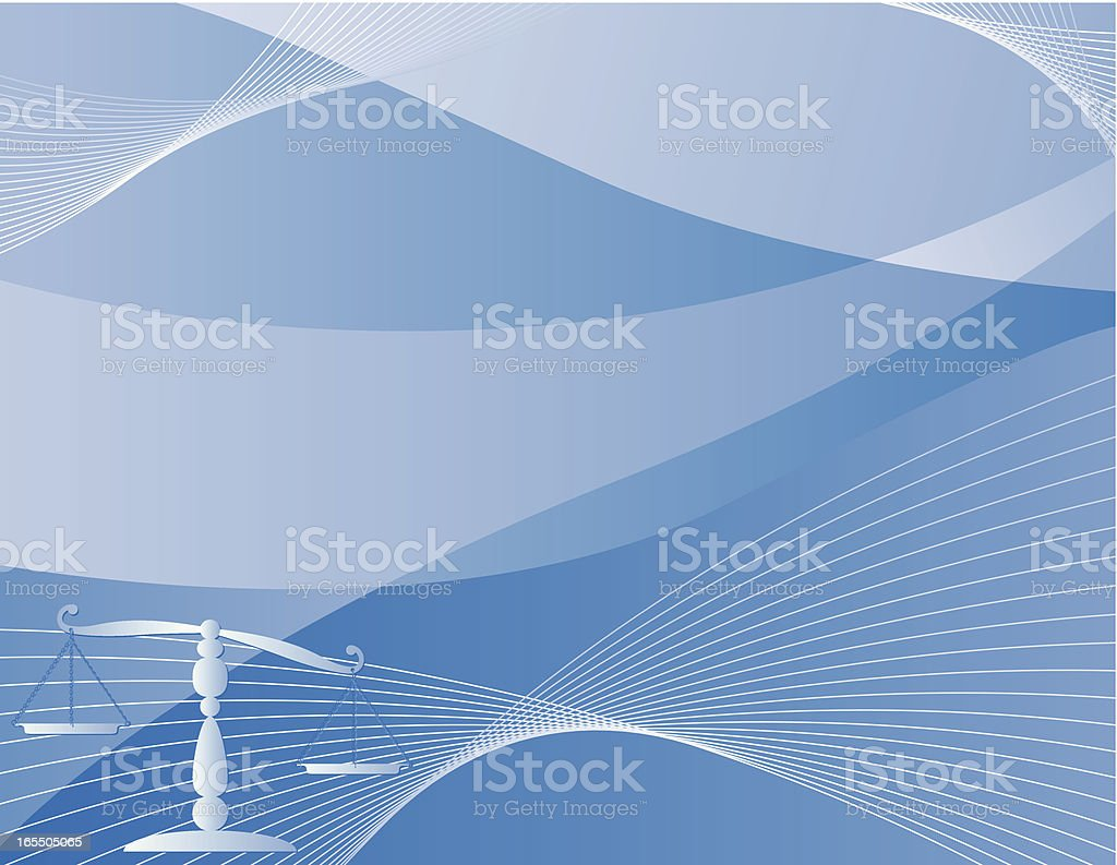Justice Scale Background - Blue royalty-free stock vector art