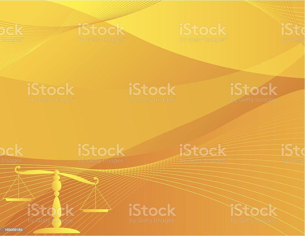 Justice Scale Background - Orange vector art illustration