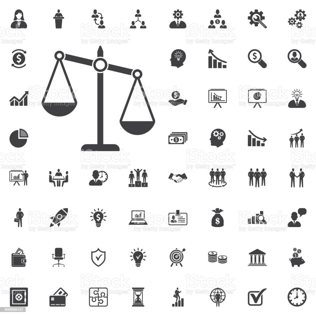 justice scale icon vector art illustration