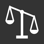 Justice Scales Vector Icon Illustration