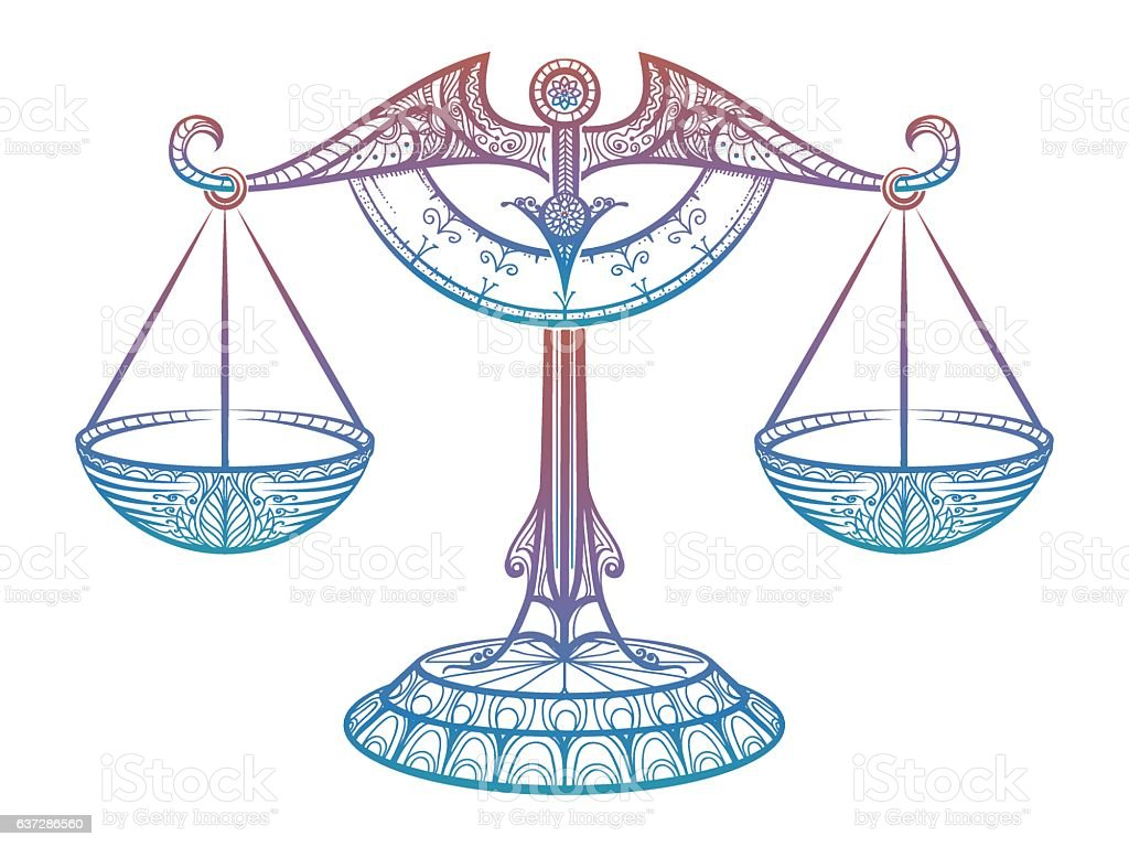 Justice Scales Zodiac Libra Sign Royalty Free Stock Vector