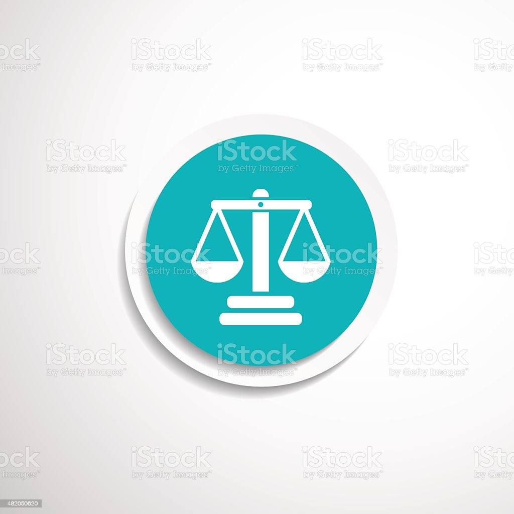justice vector icon symbol measurement balance vector art illustration