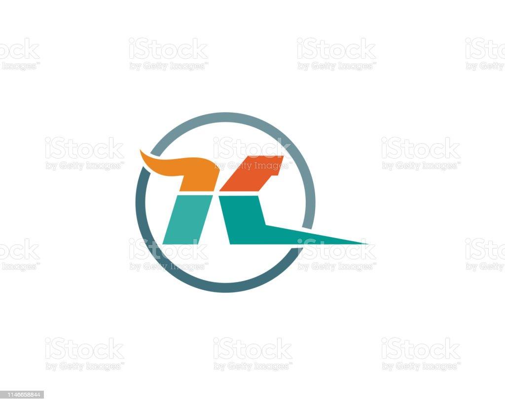 K Letter K Logo Design Und Vektor Stock Vektor Art Und Mehr Bilder Von Abstrakt