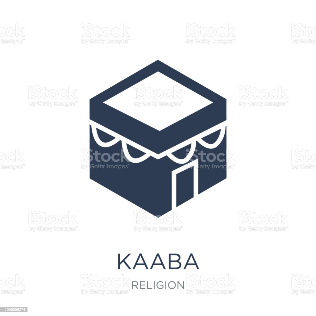 Kaaba icon. Trendy flat vector Kaaba icon on white background from Religion collection vector art illustration