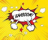 kaboom - comic speech bubble, cartoon