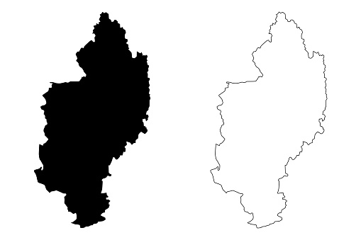 Kachin State Map Vector Stock Illustration - Download Image Now