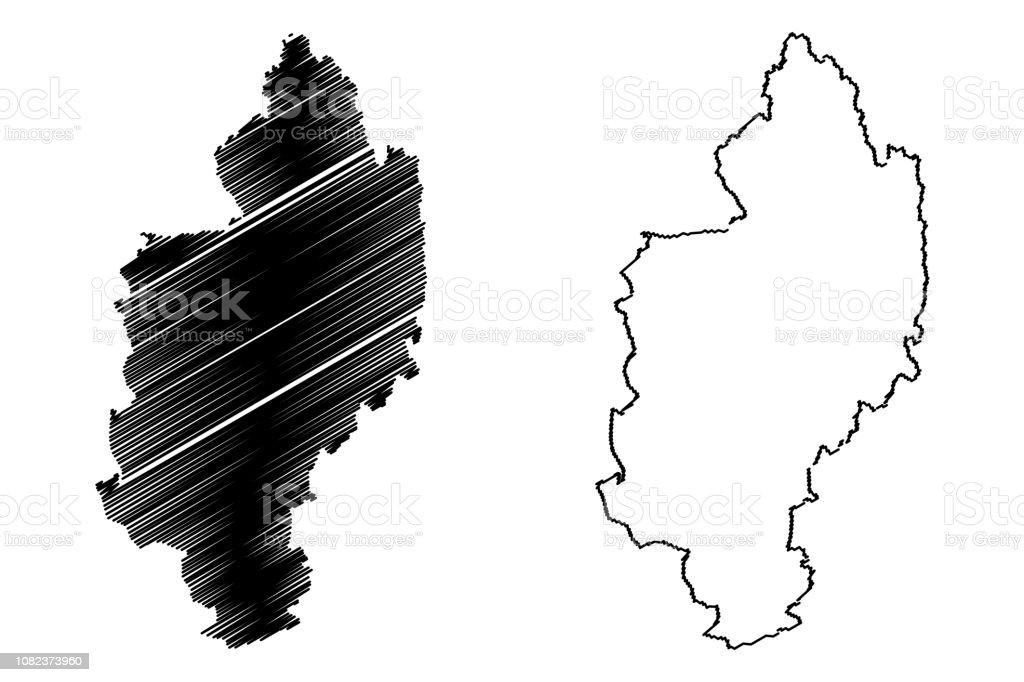 Kachin State map vector Kachin State (Administrative divisions of Myanmar, Republic of the Union of Myanmar, Burma) map vector illustration, scribble sketch Kachin map Abstract stock vector