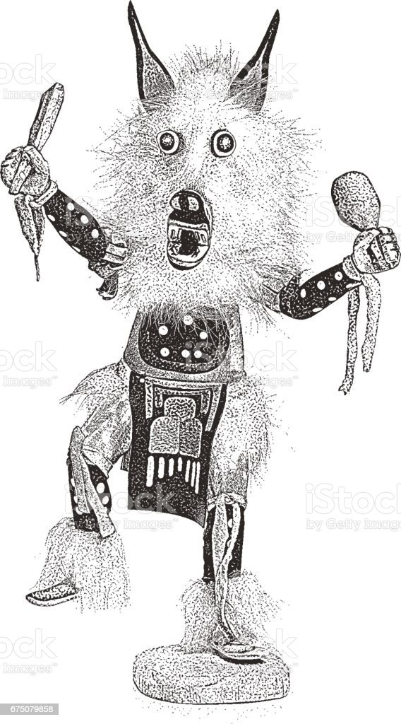 Kachina Doll vector art illustration