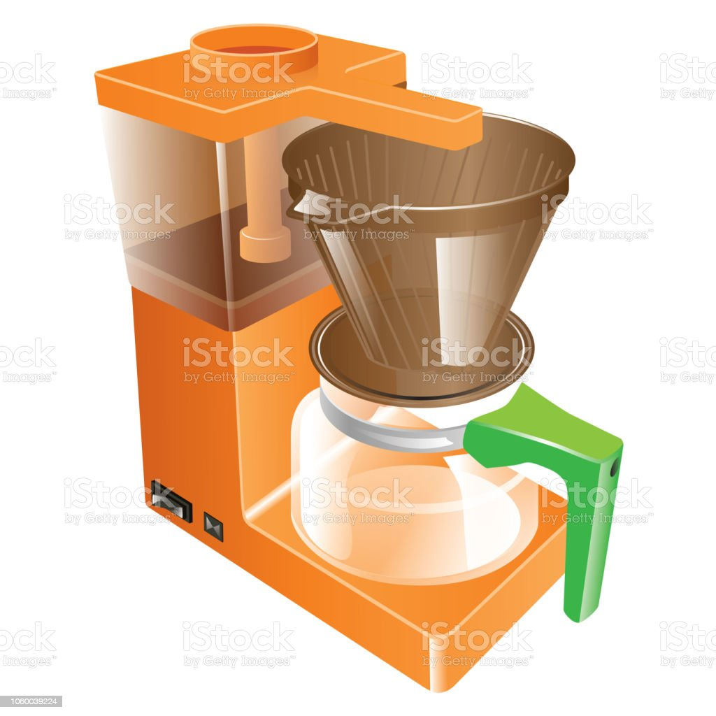 Kahve Makinası vector art illustration