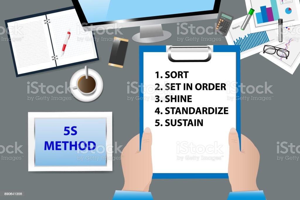 5 s 改善方法概念ベクトル ベクターアートイラスト