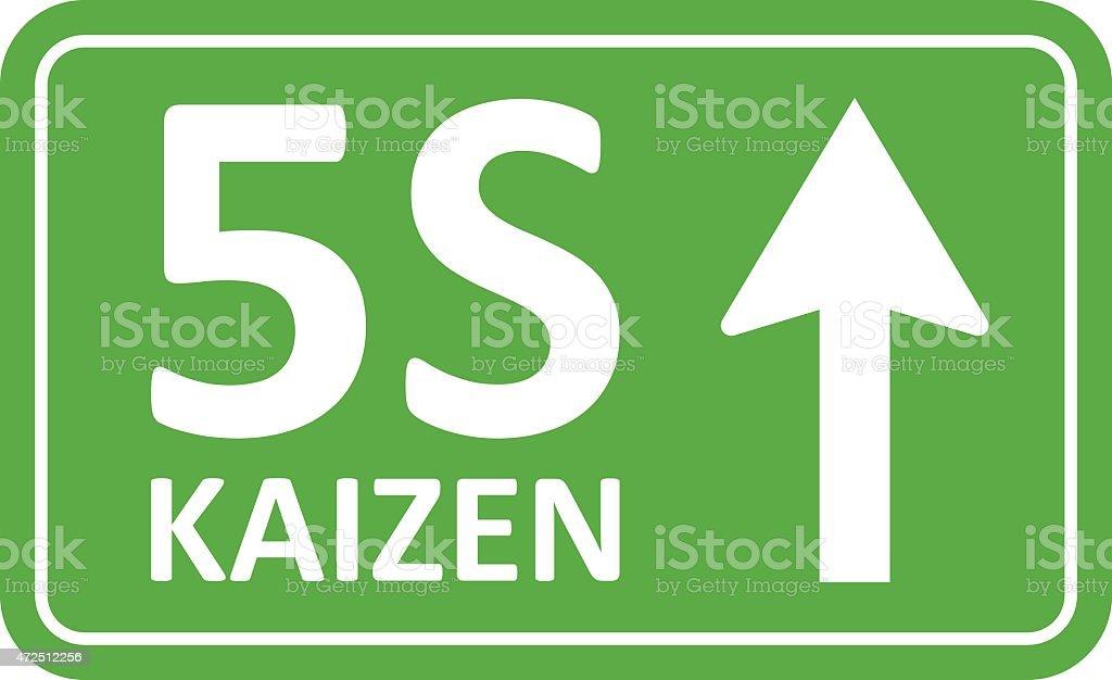 5 S カイゼン信号ベクター ベクターアートイラスト