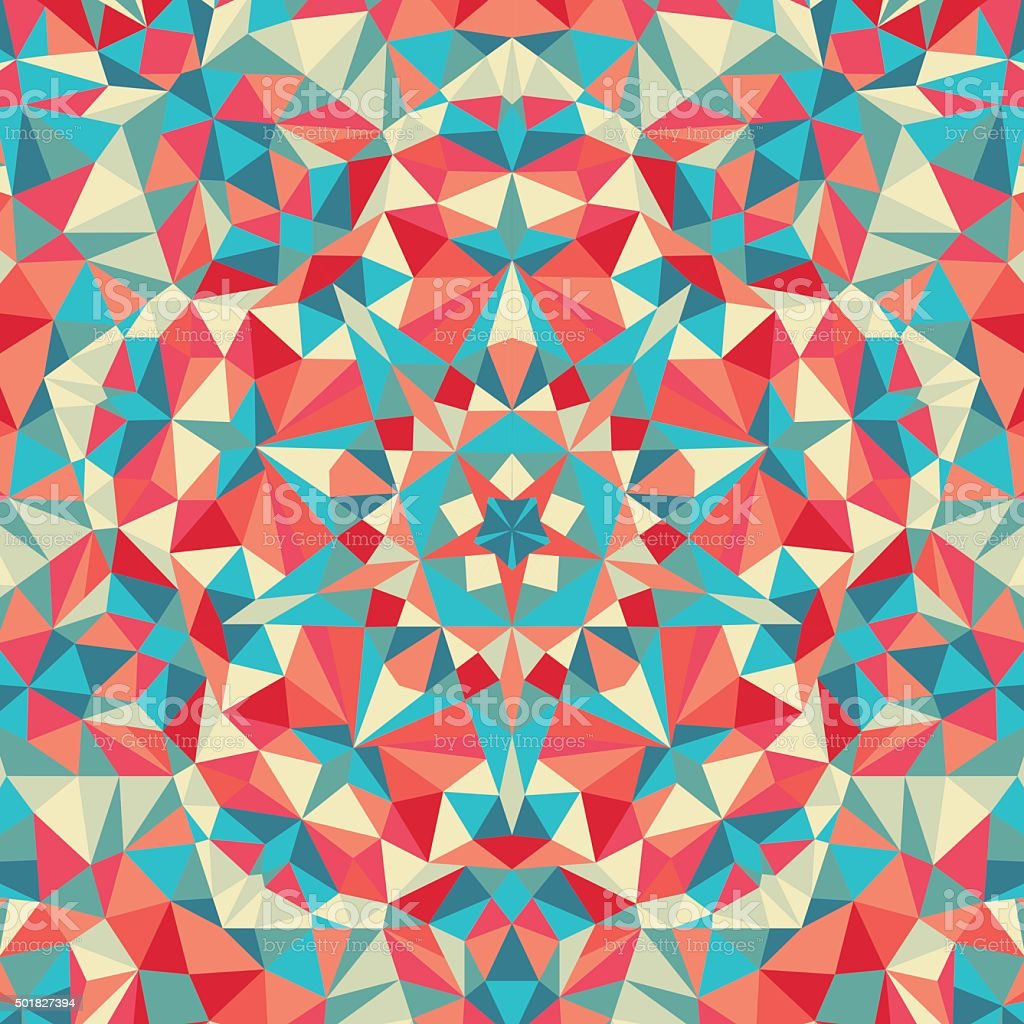 Kaleidoscope geometric colorful pattern. Abstract background vector art illustration
