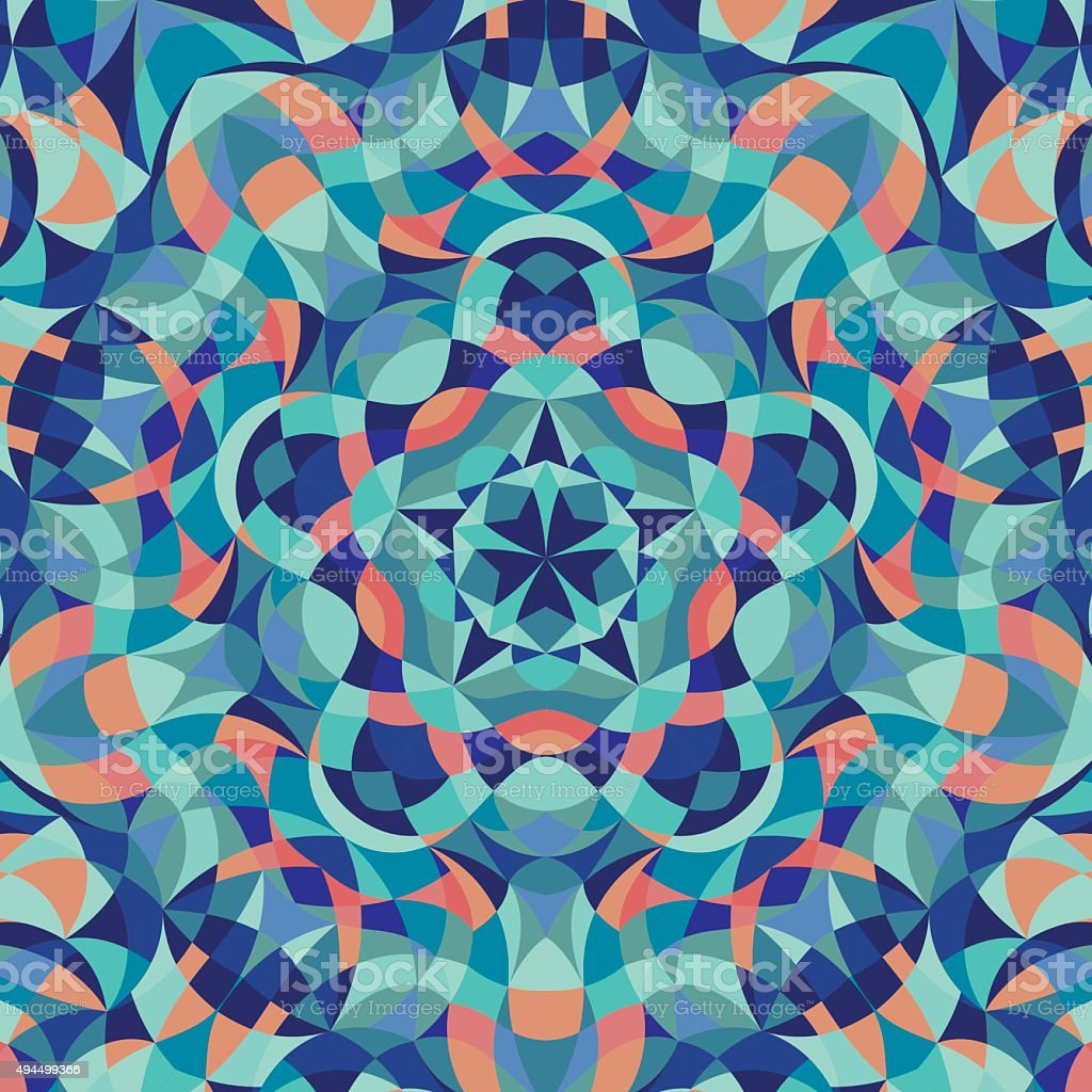Kaleidoscope geometric colorful pattern. Abstract background. Vector illustration vector art illustration