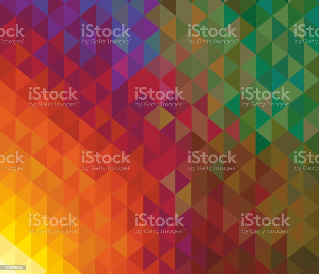 Kaleidoscope geometric dark pattern. Greeting card