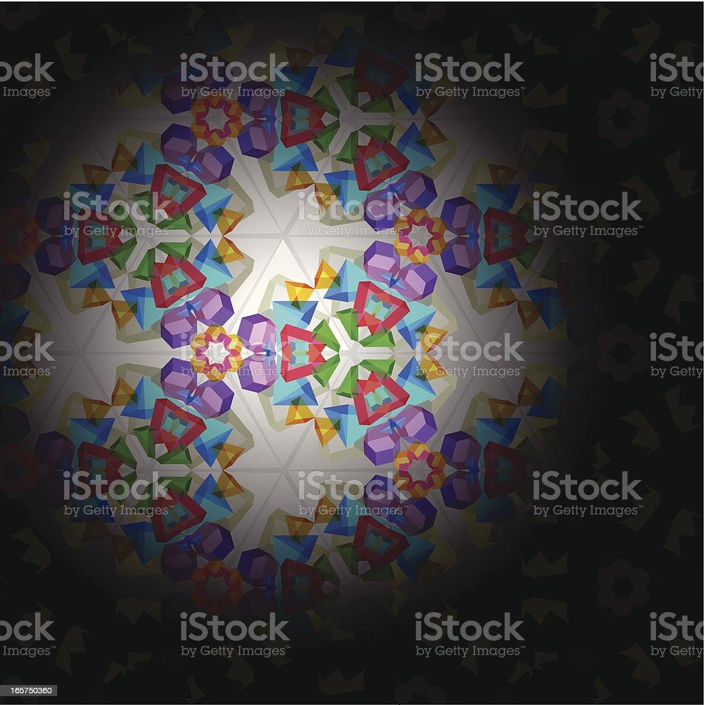 Kaleidoscope vector art illustration