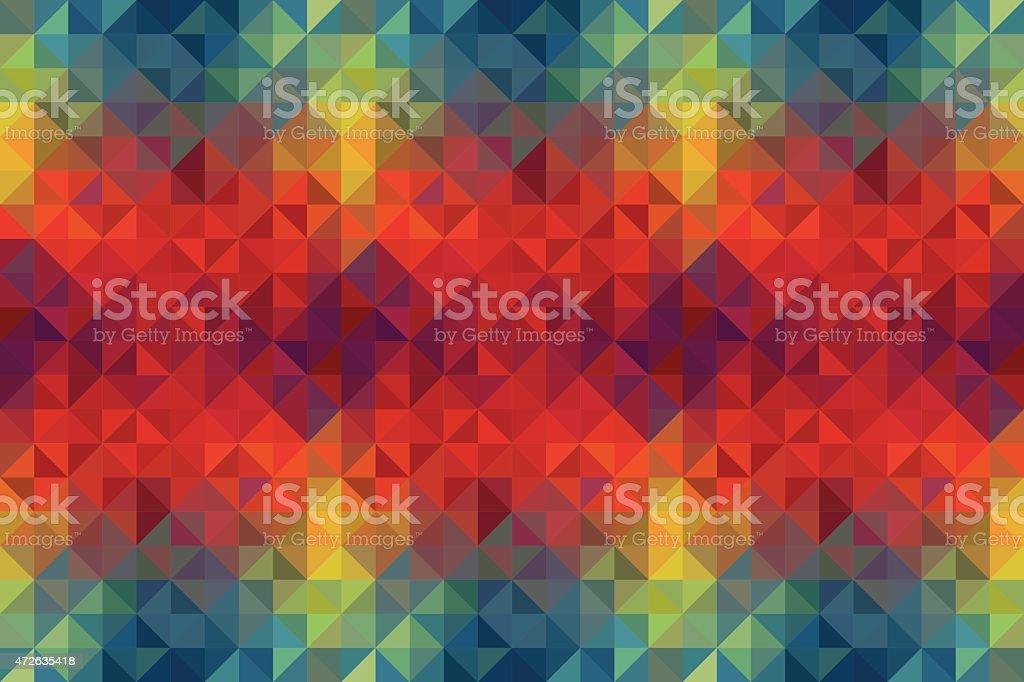 Kaleidoscope vector retro background vector art illustration