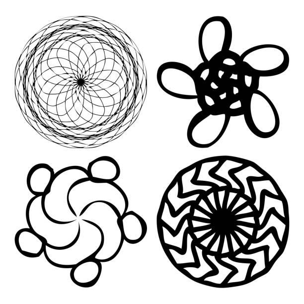 Royalty Free Background Of Ancient Hindu Symbols Clip Art Vector
