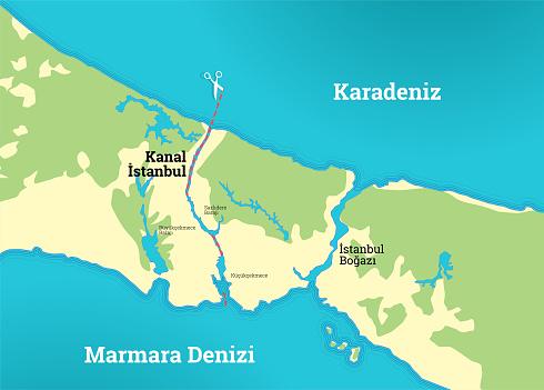 kanal istanbul map