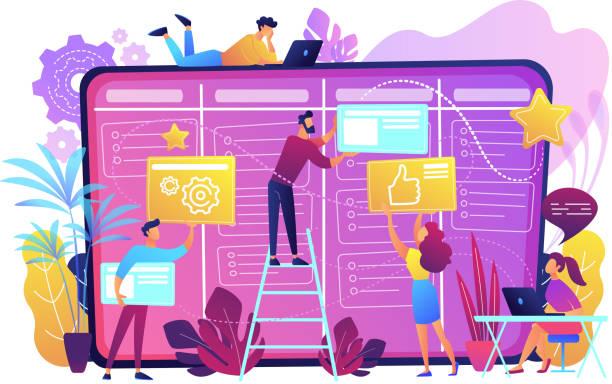 Kanban board concept vector illustration vector art illustration
