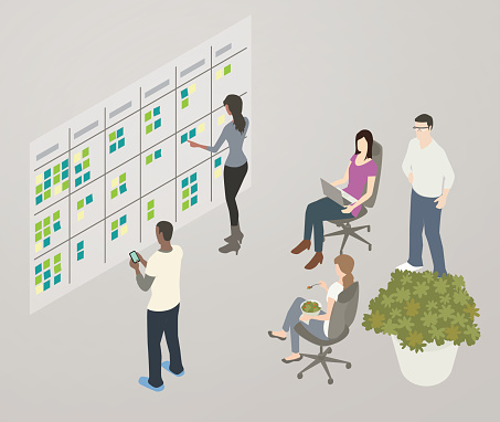 Kanban Board Illustration Stock Illustration - Download Image Now