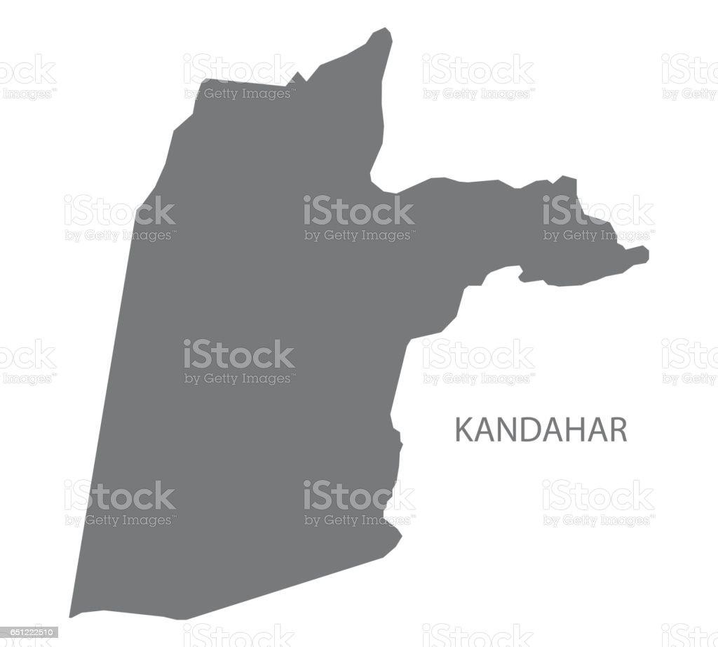 Kandahar Afghanistan Map Grey Illustration Silhouette Stock Vector
