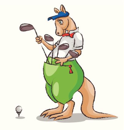 Kangaroo and golf