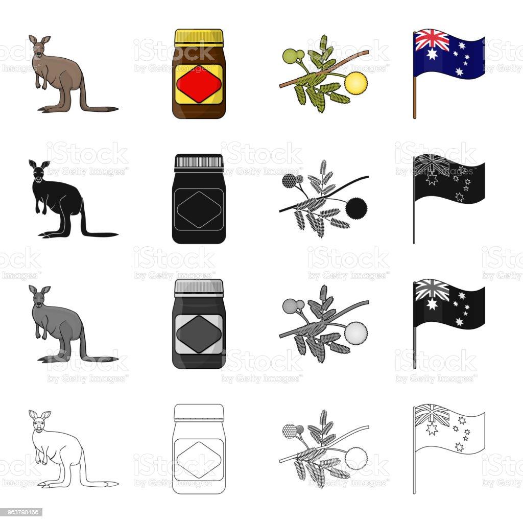Ilustración de Canguro Chutney De Manzana Salsa Acacia Australiana ...