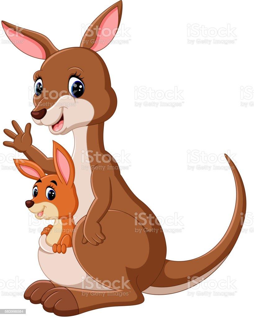 Kangaroo Comic Stock Vektor Art und mehr Bilder von Australien ...