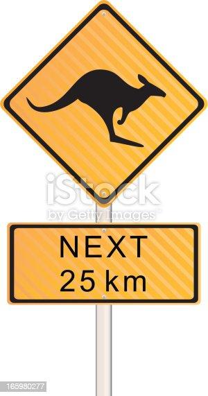 istock Kangaroo Crossing Sign 165980277