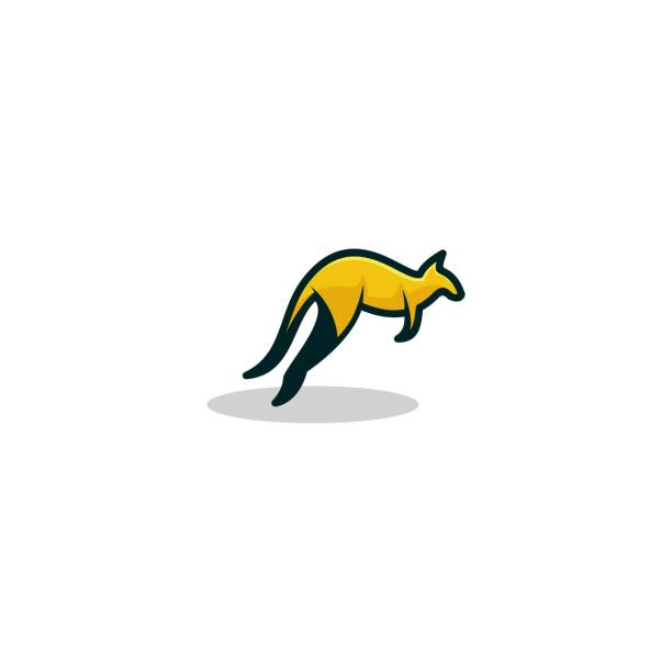Kangaroo Design concept Illustration Vector Template Kangaroo Design concept Illustration Vector Template. Suitable for Creative Industry, Multimedia, entertainment, Educations, Shop, and any related business kangaroo stock illustrations