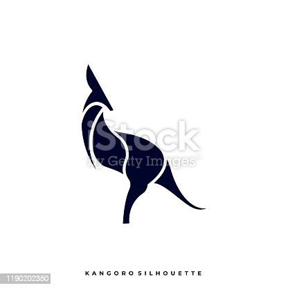 istock Kangaroo Design concept Illustration Vector Template 1190202350