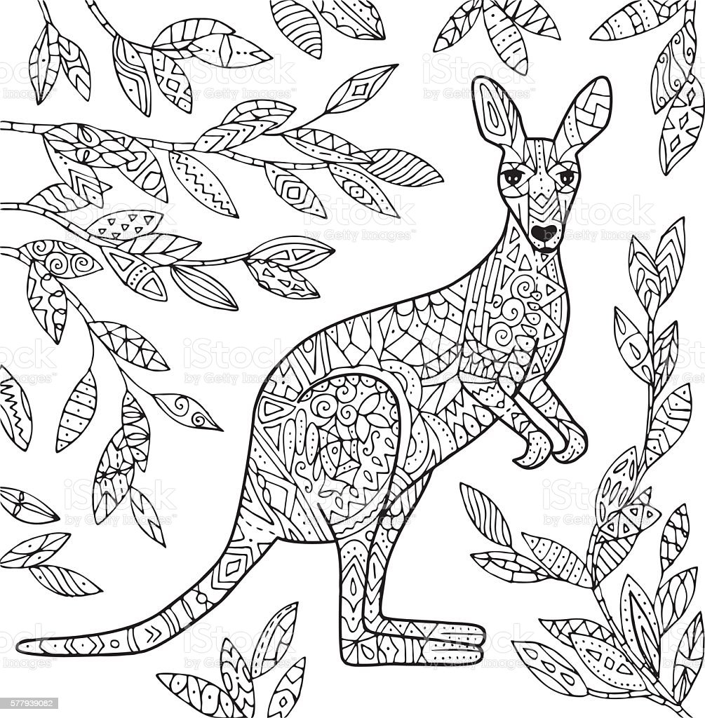 Kangaroo illustration. vektorkonstillustration