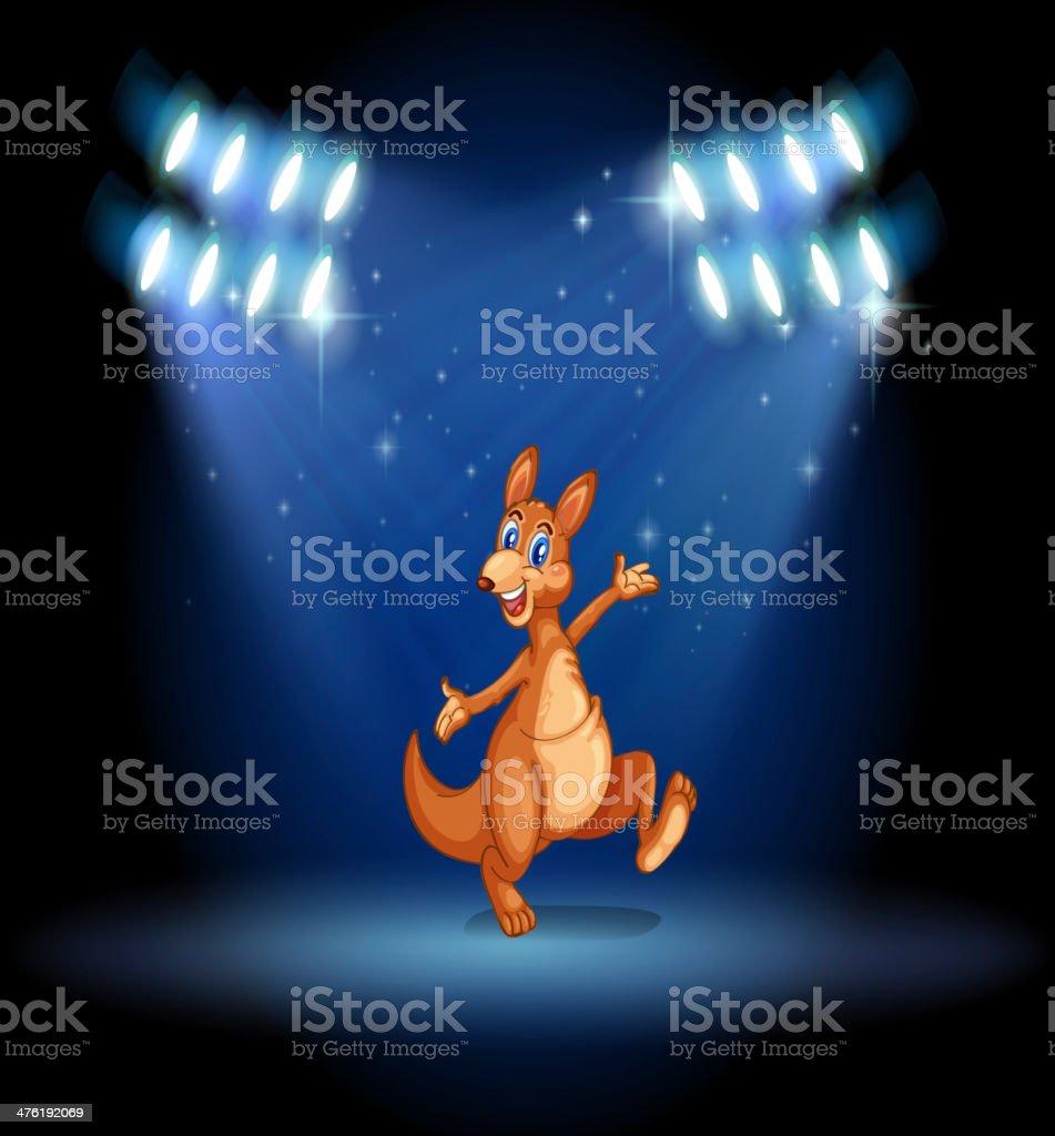 kangaroo under the spotlights royalty-free stock vector art