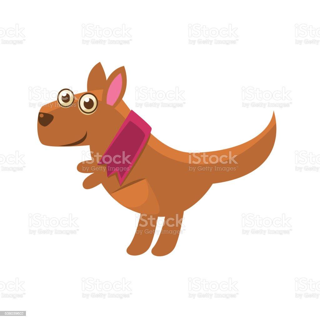 Kangaroo Wearing Purple Scarf