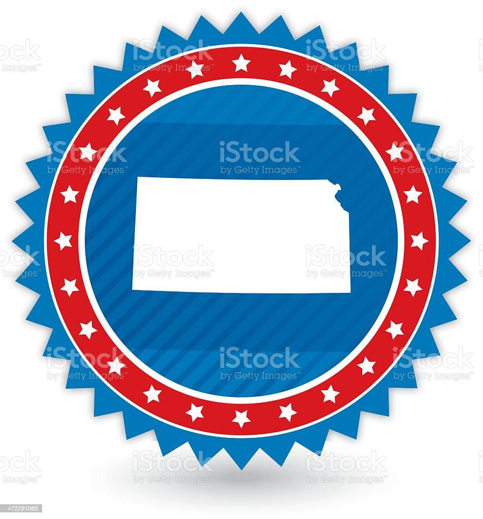 Kansas Badge royalty-free kansas badge stock vector art & more images of award