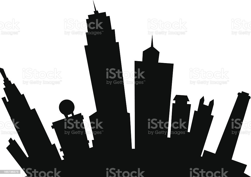Kansas City Cartoon Silhouette vector art illustration