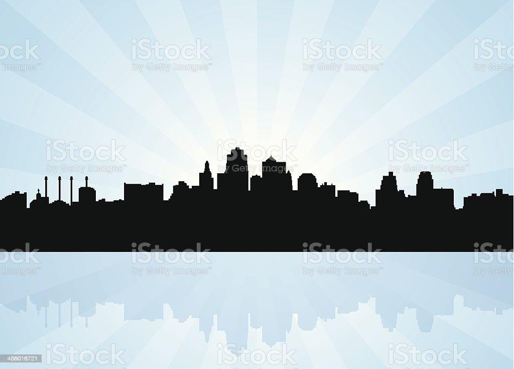 Kansas City Missouri Skyline vector art illustration