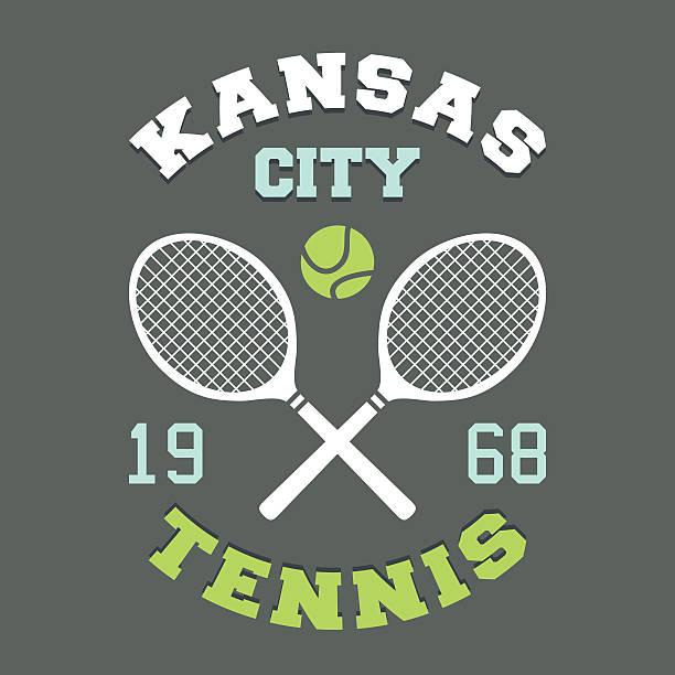 kansas city tennis-t-shirt - wimbledon stock-grafiken, -clipart, -cartoons und -symbole