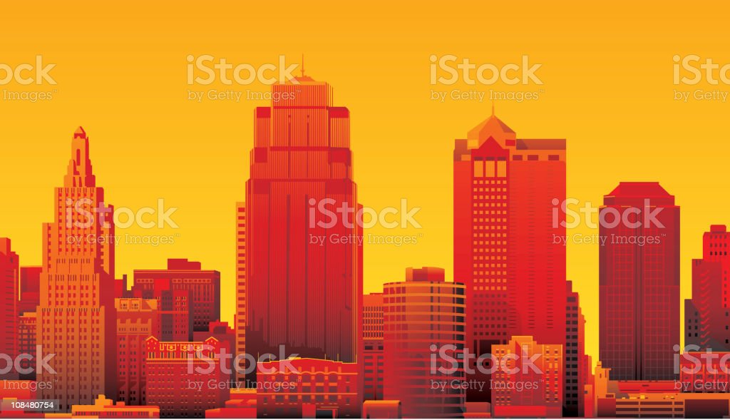Kansas City vector art illustration