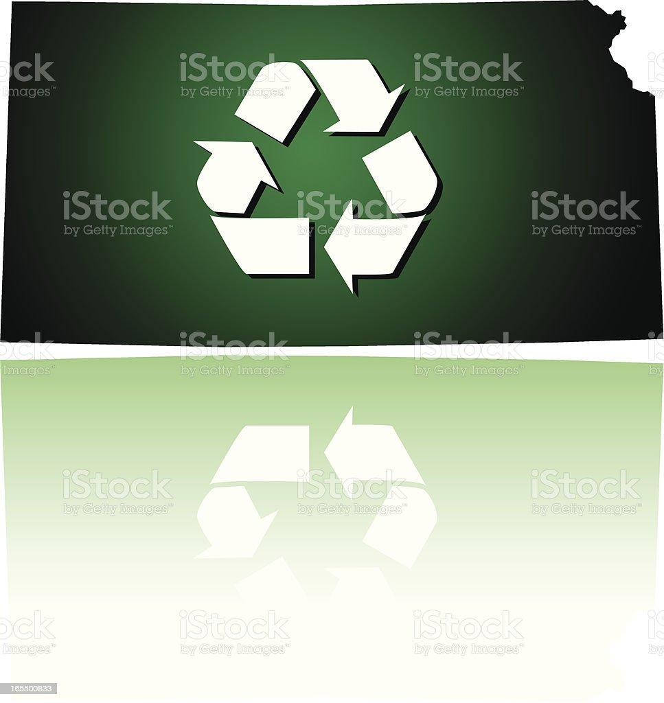 Kansas Recycles royalty-free stock vector art