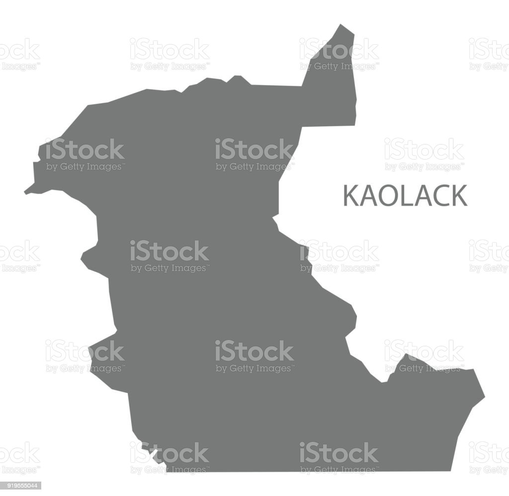 Kaolack Map Of Senegal Grey Illustration Silhouette Shape Stock