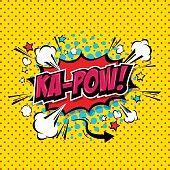 istock Ka-Pow! Comic Speech Bubble, Cartoon. art and illustration vector file. 1206997583