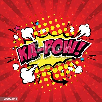 istock Ka-Pow! Comic Speech Bubble 1205903441